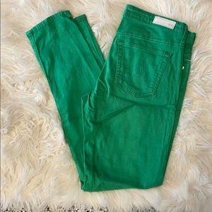 AG the Stevie Ankle skin straight leg 27R green